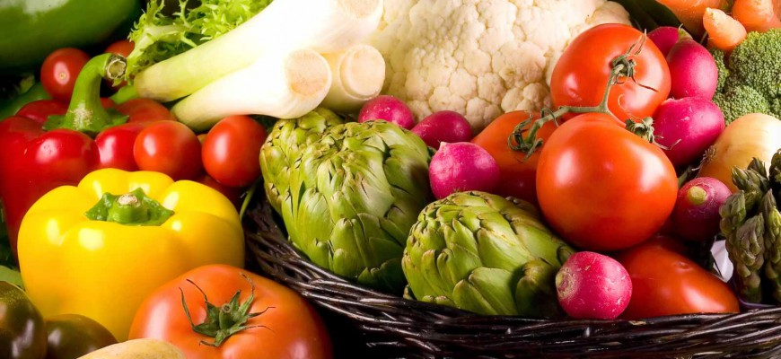 Kalorické tabulky – zelenina